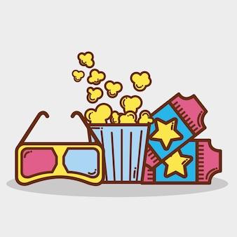 Popcorn, soda e biglietti al cinema