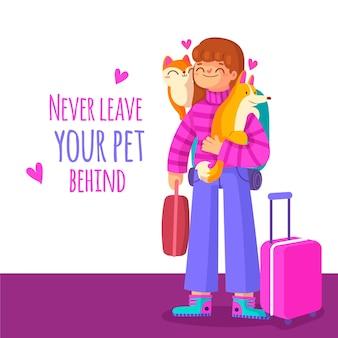 Porta con te i tuoi animali domestici quando ti sposti