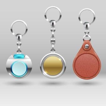 Portachiavi realistici. set di chiavi per auto. collezione di bigiotteria