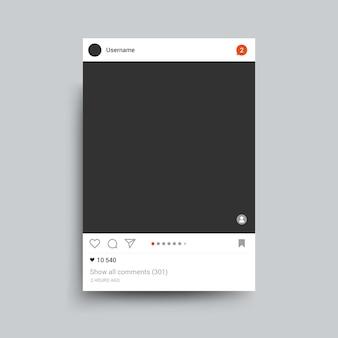 Portafoto ispirato ad instagram