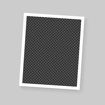 Portafoto vettoriale realistico. modello di progettazione fotografica illustrazione vettoriale