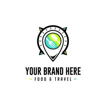 Portaoggetti per il logo di cibo e viaggi