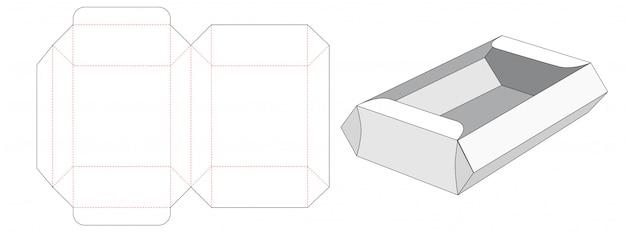 Porti via il modello tagliato della scatola del contenitore di alimento