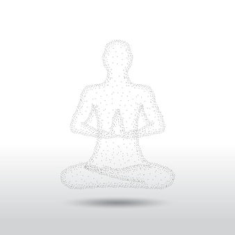 Posa di meditazione yoga