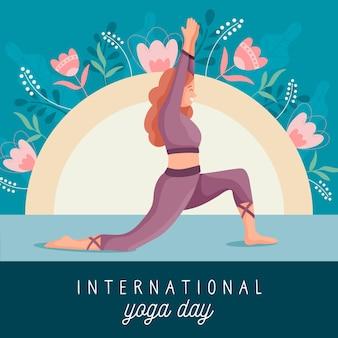 Posa di yoga di pratica della donna