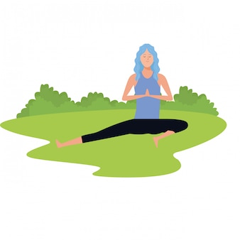 Posa yoga donna