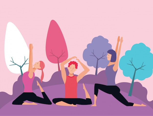 Posa yoga persone