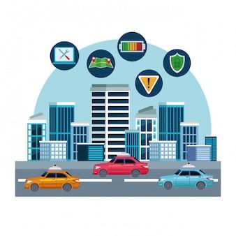 Posizione del servizio di auto taxi