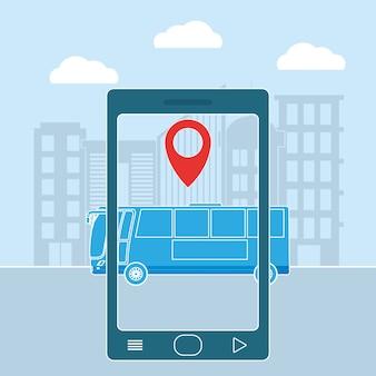Posizione della stazione degli autobus da smartphone
