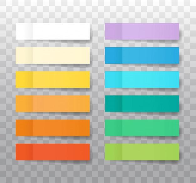 Post adesivi nota mock up isolato su trasparente