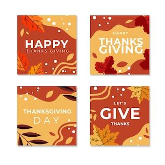 Post di instagram del giorno del ringraziamento