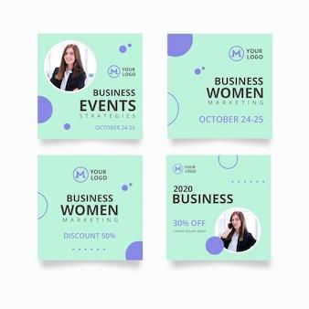 Post di instagram della donna d'affari