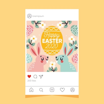 Post di instagram di giorno di pasqua