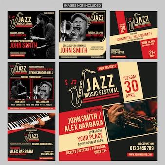 Post di social media internazionale di jazz