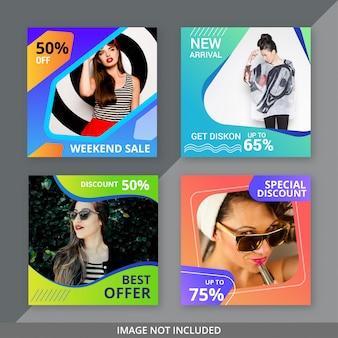 Post di social media per la vendita di moda