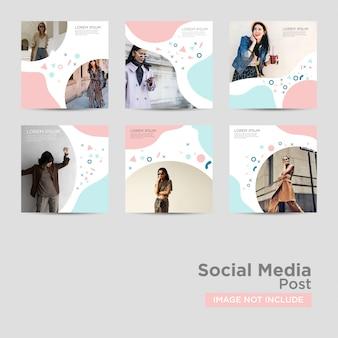 Post di social media per modello di marketing digitale