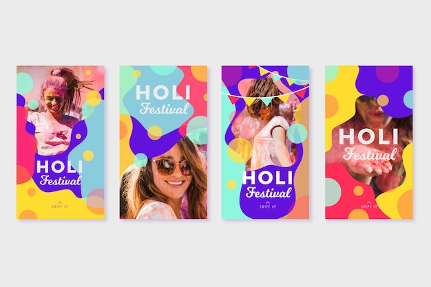 Post sui social media del festival holi per instagram