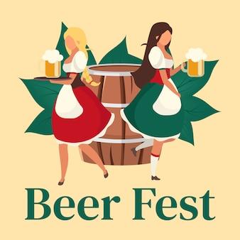 Post sui social media della festa della birra