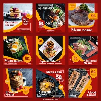 Post sui social media per la promozione del cibo