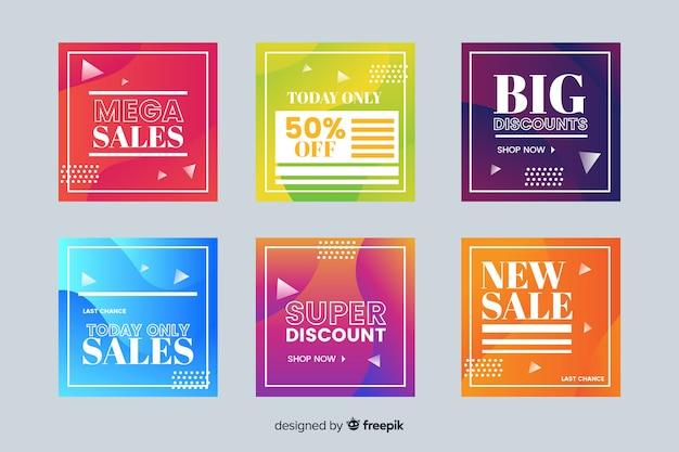Posta di instagram di vendita gradiente