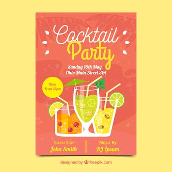 Poster arancione di cocktail arancione