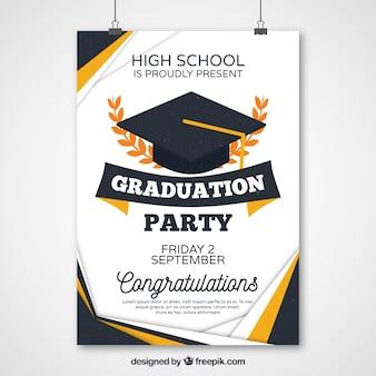 Poster astratta di partito di graduazione
