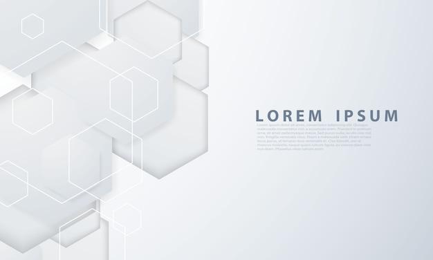 Poster astratto sfondo grigio con dinamica. illustrazione della rete tecnologica.