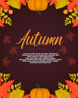 Poster autunnale