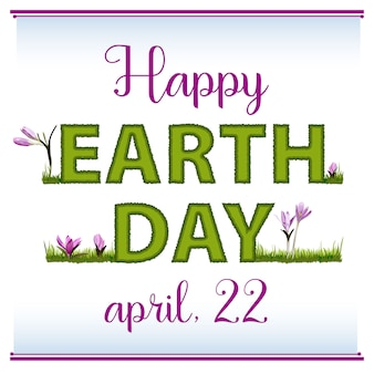 Poster, banner o cartolina per la giornata internazionale della terra