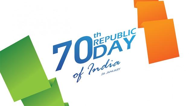 Poster, banner o flyer creativi per republic day of india