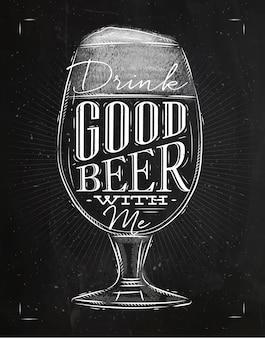 Poster buon gesso di birra