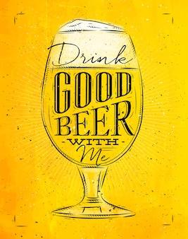 Poster buona birra gialla