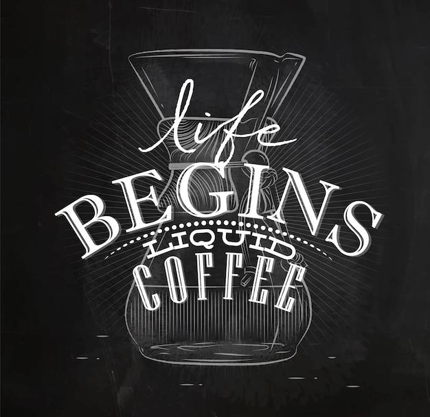 Poster caffè liquido