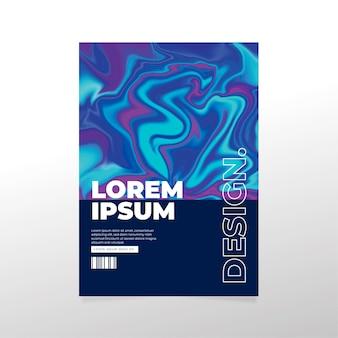 Poster colorato effetto fluido modello