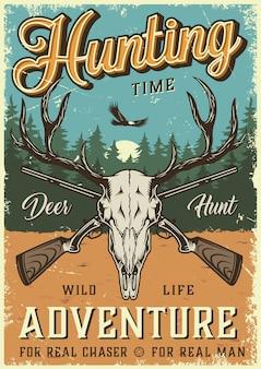 Poster colorato tempo di caccia