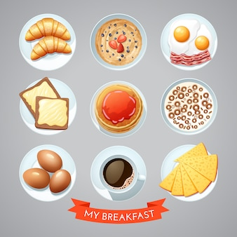 Poster con set colazione