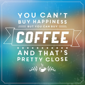 Poster da caffè tipografico