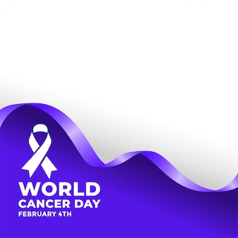 Poster del 4 ° giorno mondiale del cancro di februarty