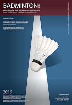 Poster del campionato di badminton