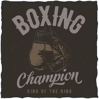 Poster del campionato di boxign