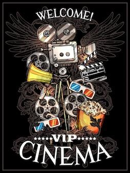 Poster del cinema doodle