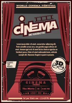 Poster del cinema sul tappeto rosso