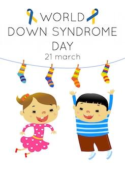 Poster del concetto di giornata mondiale della sindrome di down