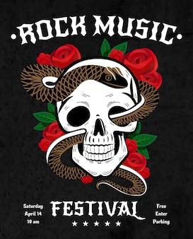 Poster del festival di musica rock