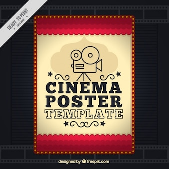 Poster del film in stile vintage