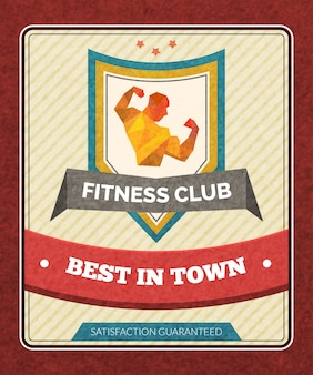 Poster del fitness club