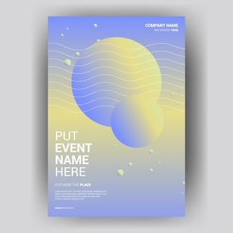 Poster del libro di copertura con cerchio colorato creativo