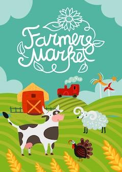 Poster del mercato degli agricoltori