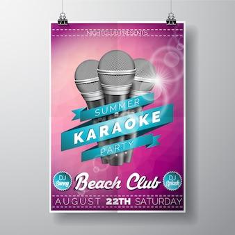 Poster del partito di karaoke