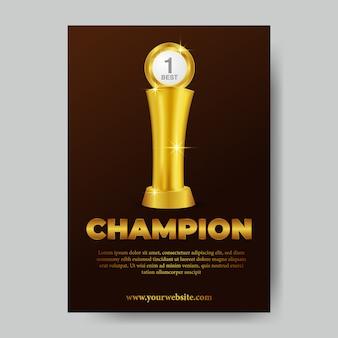 Poster del trofeo campione